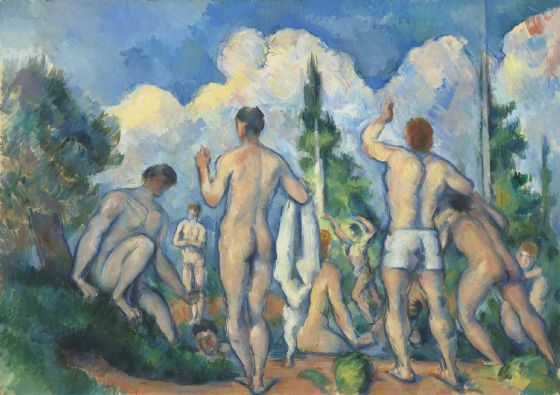 Cezanne, Paul: Bathers. Fine Art Print/Poster. Sizes: A4/A3/A2/A1 (004229)